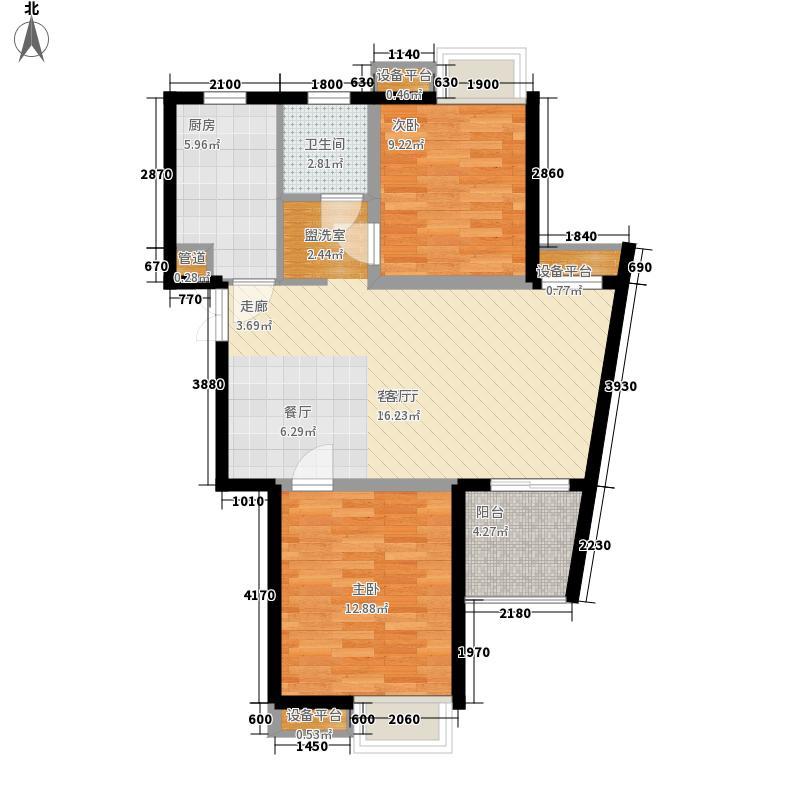 森海豪庭四期8.00㎡B4户型2室2厅1卫1厨