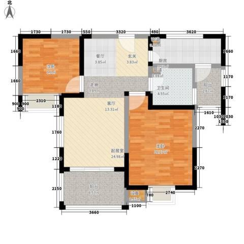 华富汇2室0厅1卫1厨104.00㎡户型图