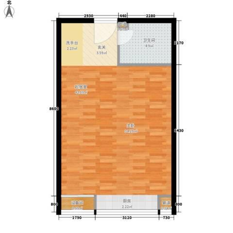 康桥领寓1卫0厨48.38㎡户型图