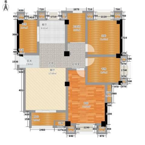 名门世家3室0厅1卫1厨122.00㎡户型图