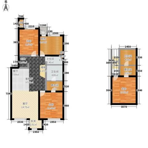傲城尊邸3室1厅3卫1厨144.00㎡户型图