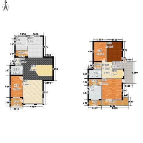 傲城尊邸3室1厅3卫1厨332.00㎡户型图