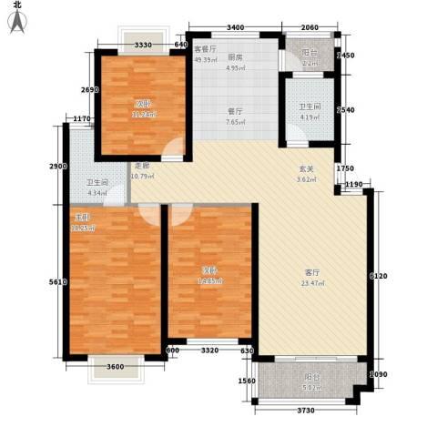 恒祥苑3室1厅2卫0厨154.00㎡户型图
