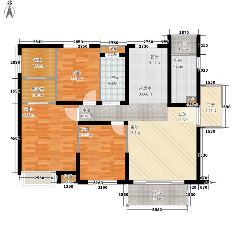 航天云海台111.33㎡2户型3室2厅2卫1厨