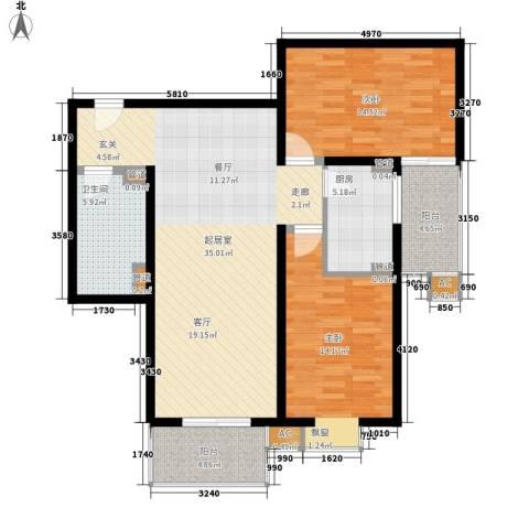 万方景轩2室0厅1卫1厨122.00㎡户型图