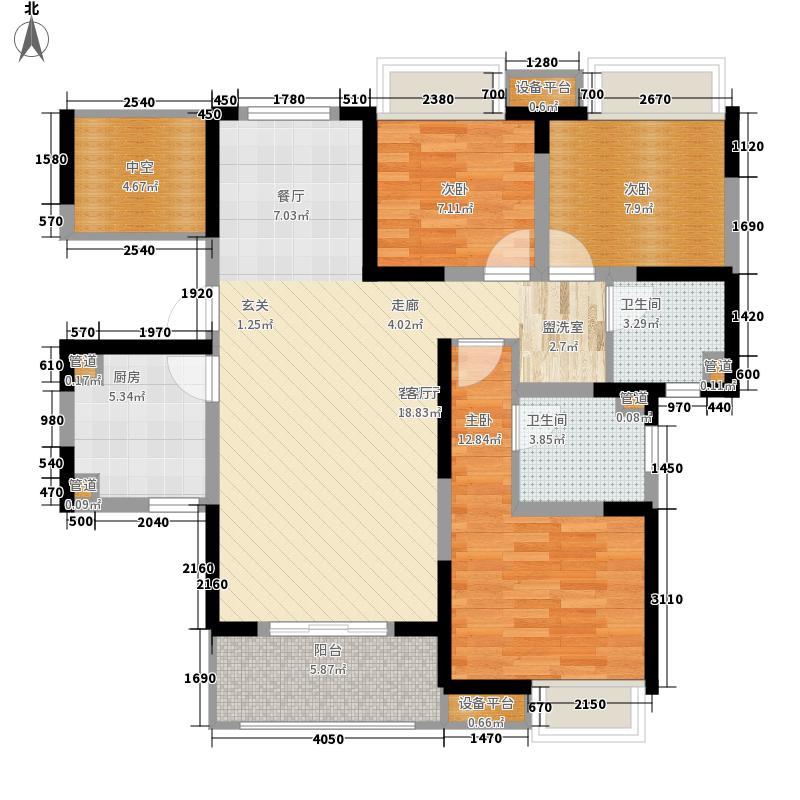 一期7号楼、8号楼2-25层B3户型