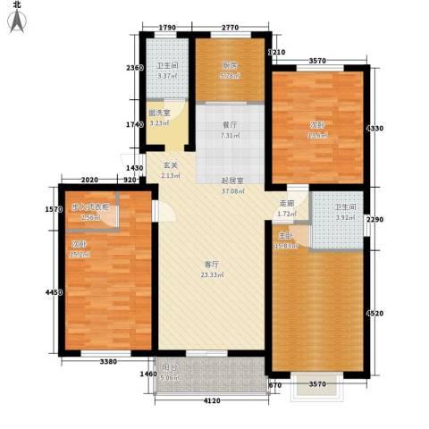 彼岸3室0厅2卫1厨122.00㎡户型图
