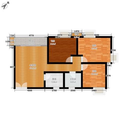 百步滨江3室0厅1卫1厨105.00㎡户型图