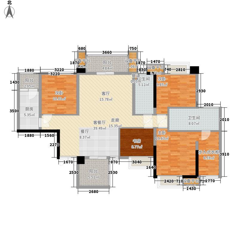 泰然环球时代中心环球时代中心A3户型5室2厅2卫1厨