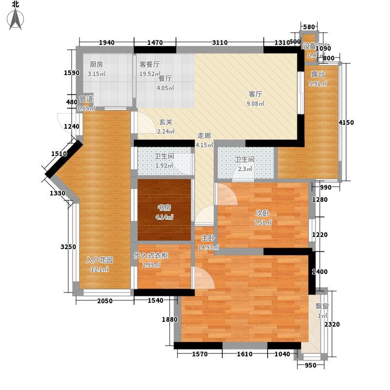 新境界花园88.00㎡新境界花园3室户型3室