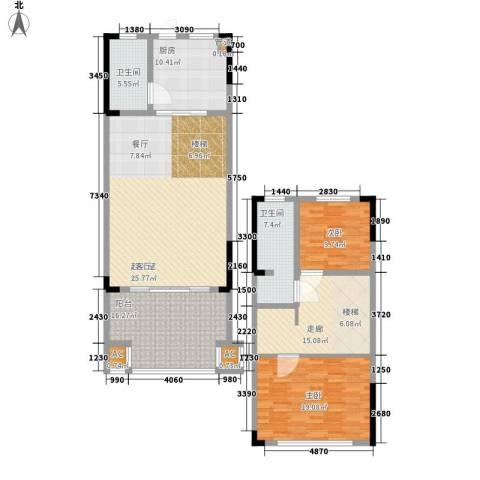三亚小院2室0厅2卫1厨125.72㎡户型图