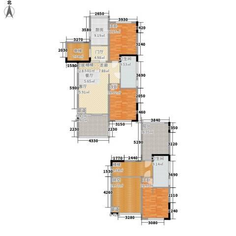 三亚小院3室0厅2卫1厨182.79㎡户型图