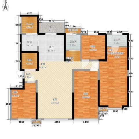 长兴・园湖曲4室1厅2卫1厨182.00㎡户型图