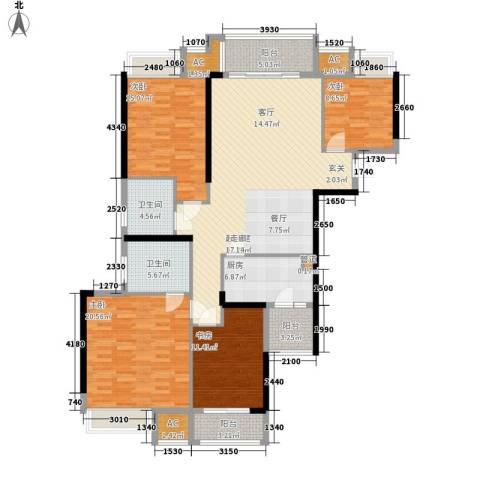 福乐名园4室0厅2卫1厨147.00㎡户型图