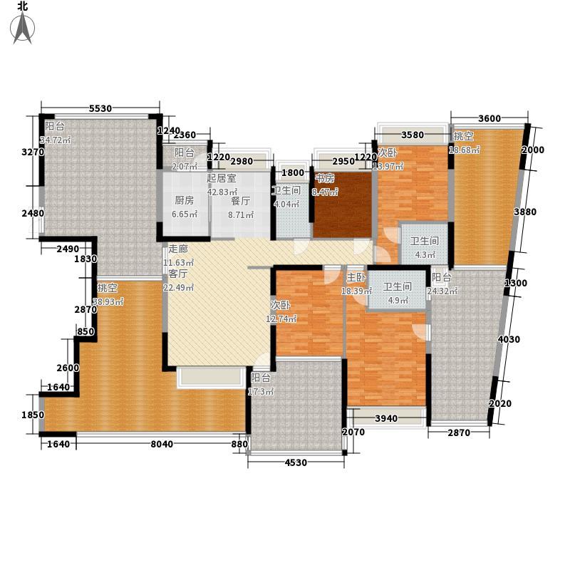 公园大地17栋02户型偶数层4室2厅3卫1厨168.58平户型