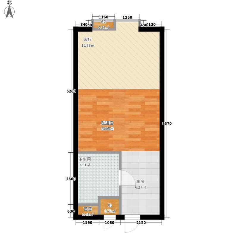 金港花园42.00㎡金港花园1室户型1室