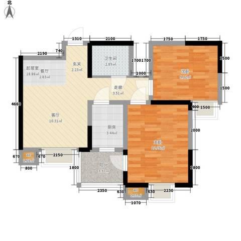大朗中心花园2室0厅1卫1厨128.00㎡户型图