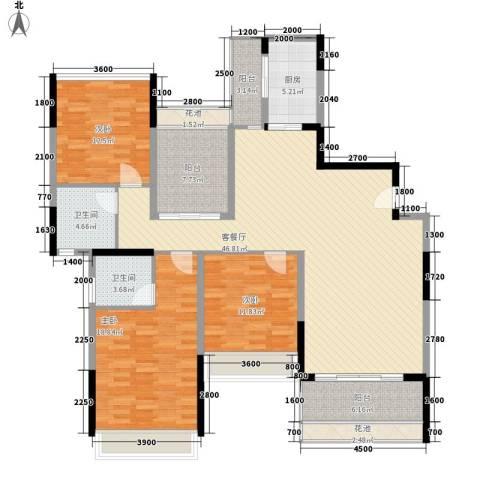 教师新村(松山湖)3室1厅2卫1厨124.57㎡户型图
