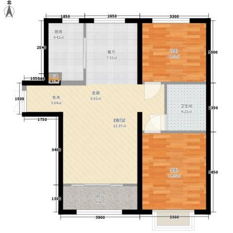 天洋城4代2室0厅1卫1厨91.00㎡户型图