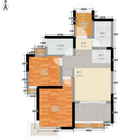 联泰香域尚城2室0厅1卫1厨78.00㎡户型图