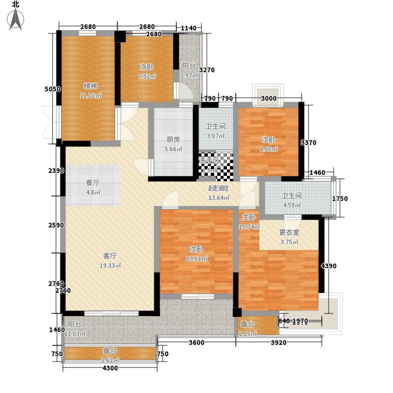 华夏曦岸148.55㎡P14-P15户型4室2厅2卫1厨