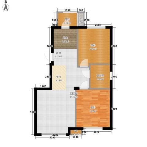 连海金源2室0厅1卫0厨85.00㎡户型图