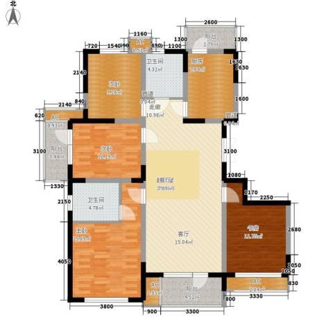 同方广场4室0厅2卫1厨146.00㎡户型图