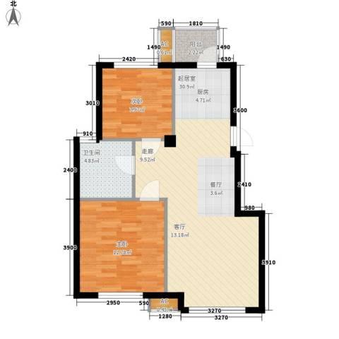 连海金源2室0厅1卫0厨86.00㎡户型图