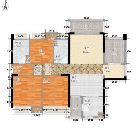 保利西雅图3室0厅2卫1厨118.00㎡户型图