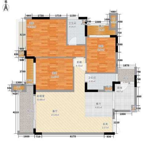 中航城3室0厅2卫1厨113.00㎡户型图