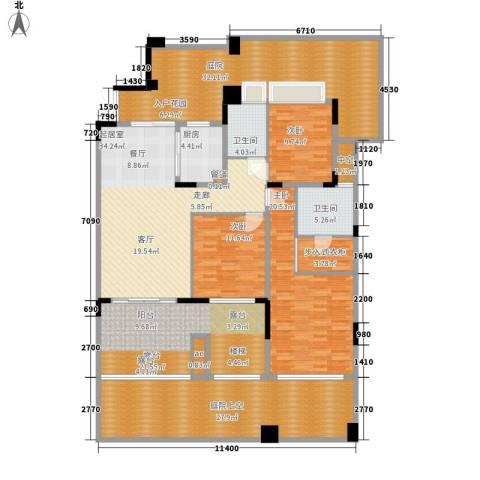 中航城3室0厅2卫1厨177.37㎡户型图