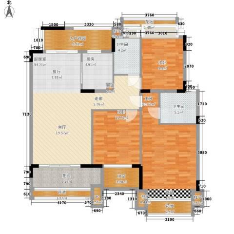 中航城3室0厅2卫1厨119.00㎡户型图