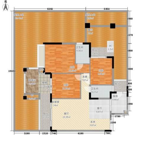 中航城3室0厅2卫1厨202.68㎡户型图
