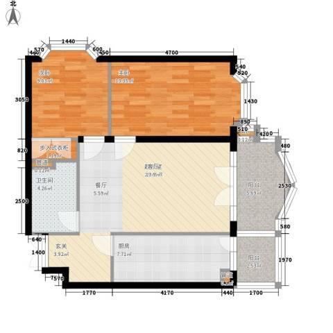 润园翡翠城2室0厅1卫1厨94.00㎡户型图