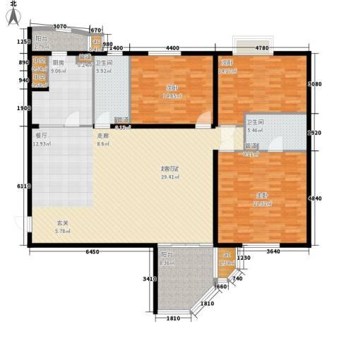 世纪城国际公馆三期3室0厅2卫1厨158.00㎡户型图