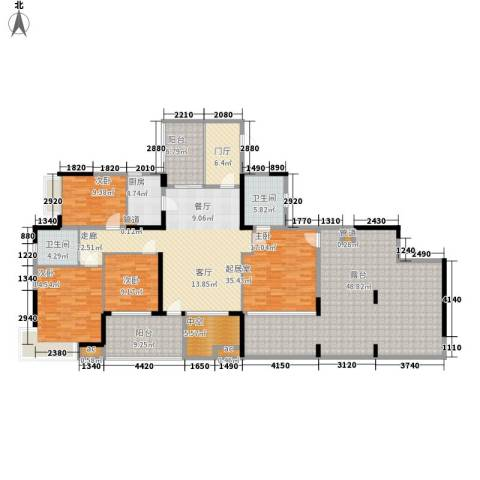 怡丰苑4室0厅2卫1厨200.00㎡户型图