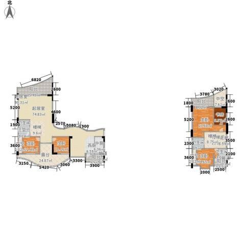 海棠晓月・怡景天域(二期)5室0厅3卫0厨269.58㎡户型图