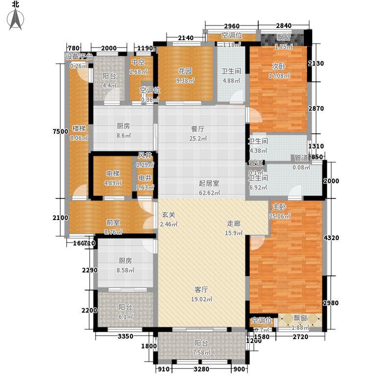 保利中央公馆264.00㎡保利中央公馆户型图5栋02户型4室2厅3卫1厨户型4室2厅3卫1厨