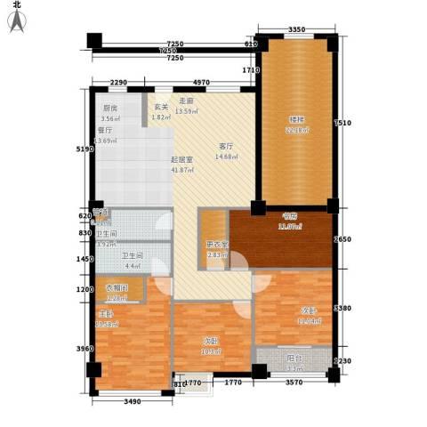 苹果假日4室0厅2卫0厨140.00㎡户型图