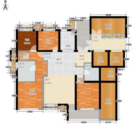 香滨半岛4室0厅2卫1厨166.00㎡户型图