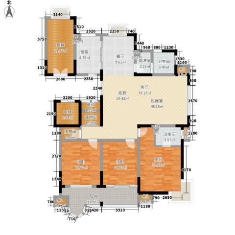 颐泽苑3室0厅2卫1厨159.00㎡户型图