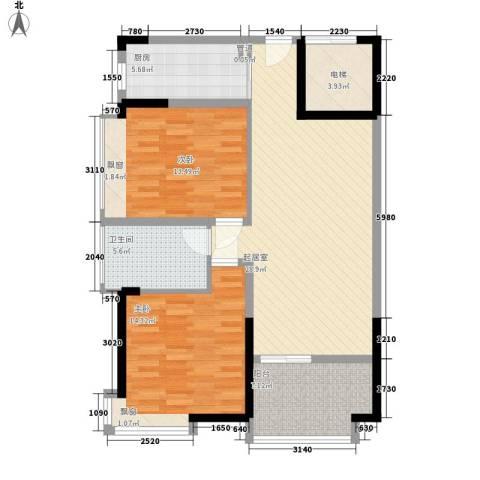 富康豪庭2室0厅1卫1厨230.00㎡户型图