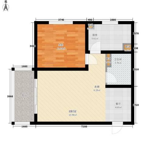 80901室0厅1卫1厨74.00㎡户型图