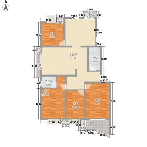 名佳嘉园4室1厅2卫0厨146.00㎡户型图