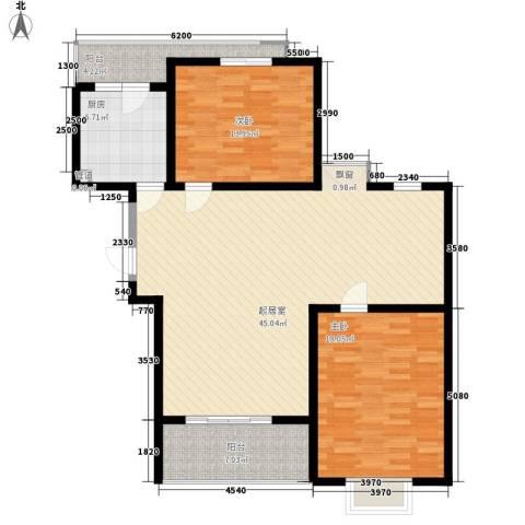 夏阳湖国际花园2室0厅0卫1厨100.00㎡户型图