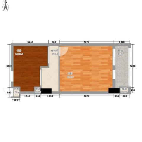 慧晶国际公寓2室0厅0卫0厨57.00㎡户型图