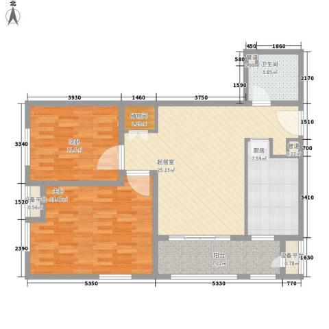 红星MOMA新程2室0厅1卫1厨88.00㎡户型图