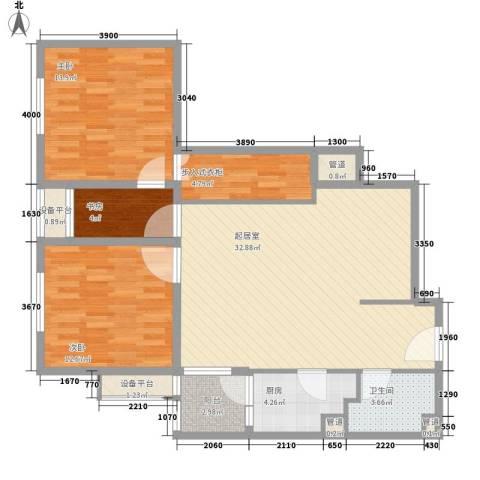 红星MOMA新程3室0厅1卫1厨94.00㎡户型图