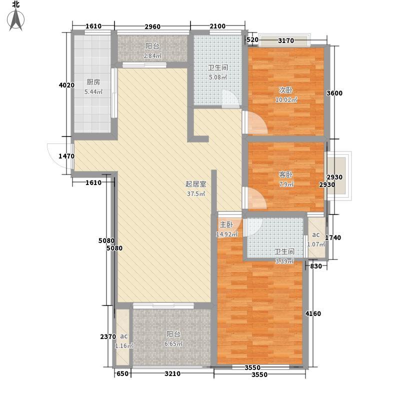 国基桂花小镇138.00㎡F2户型3室2厅2卫1厨