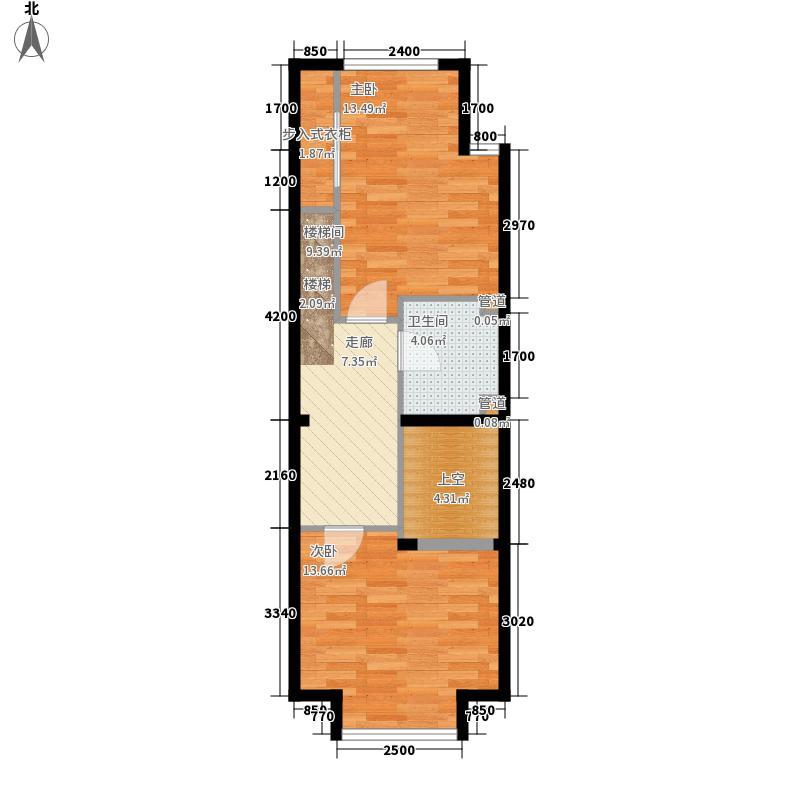 阳光100城市丽园A2-2户型2室1厅2卫